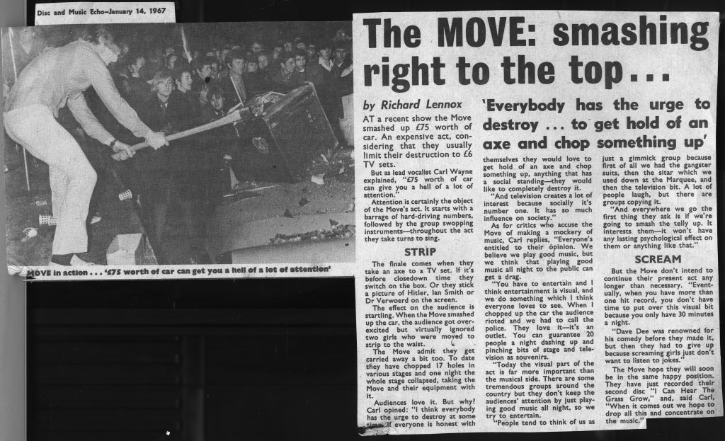 The Move - newspaper clipping