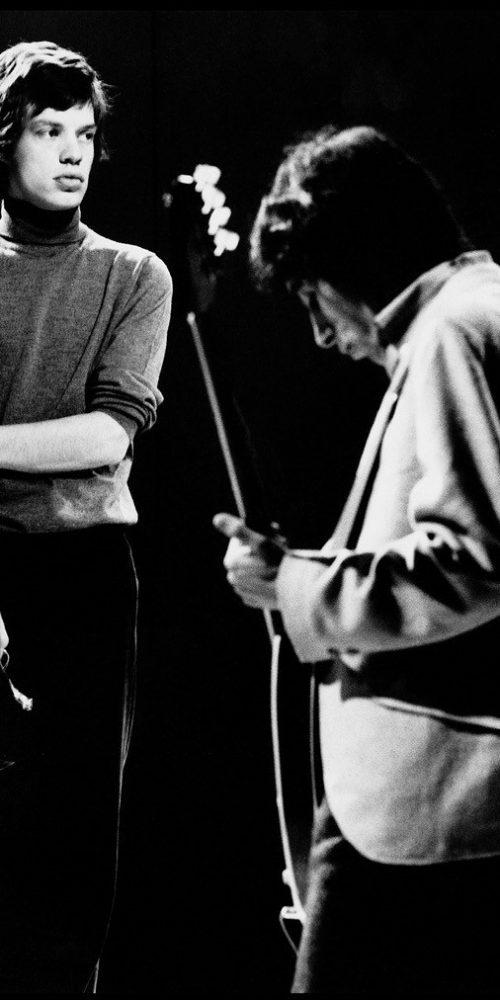 Mick Jagger and Bill Wyman 1965 © Robert Davidson Photography