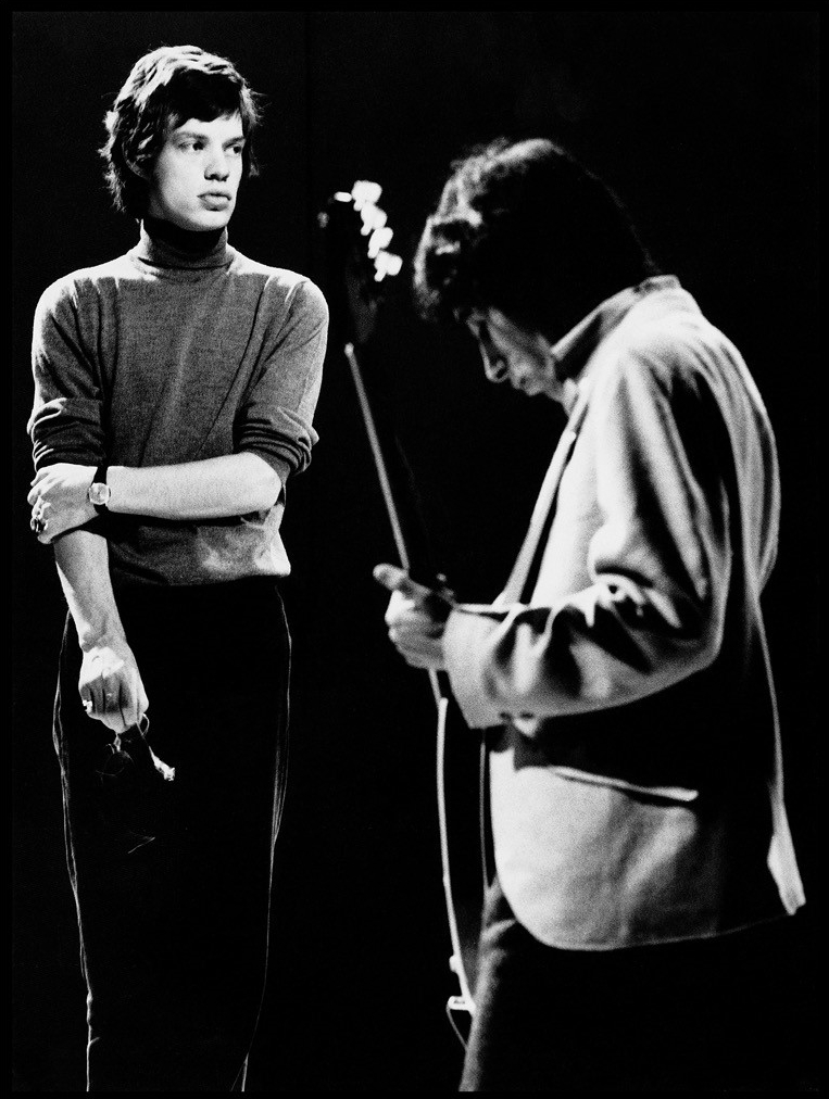 Mick Jagger and Bill Wyman 1965 © Robert Davidson Photography