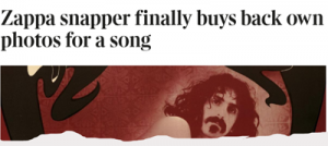 Zappa Snapper finally buys own photos back for a song – The Times