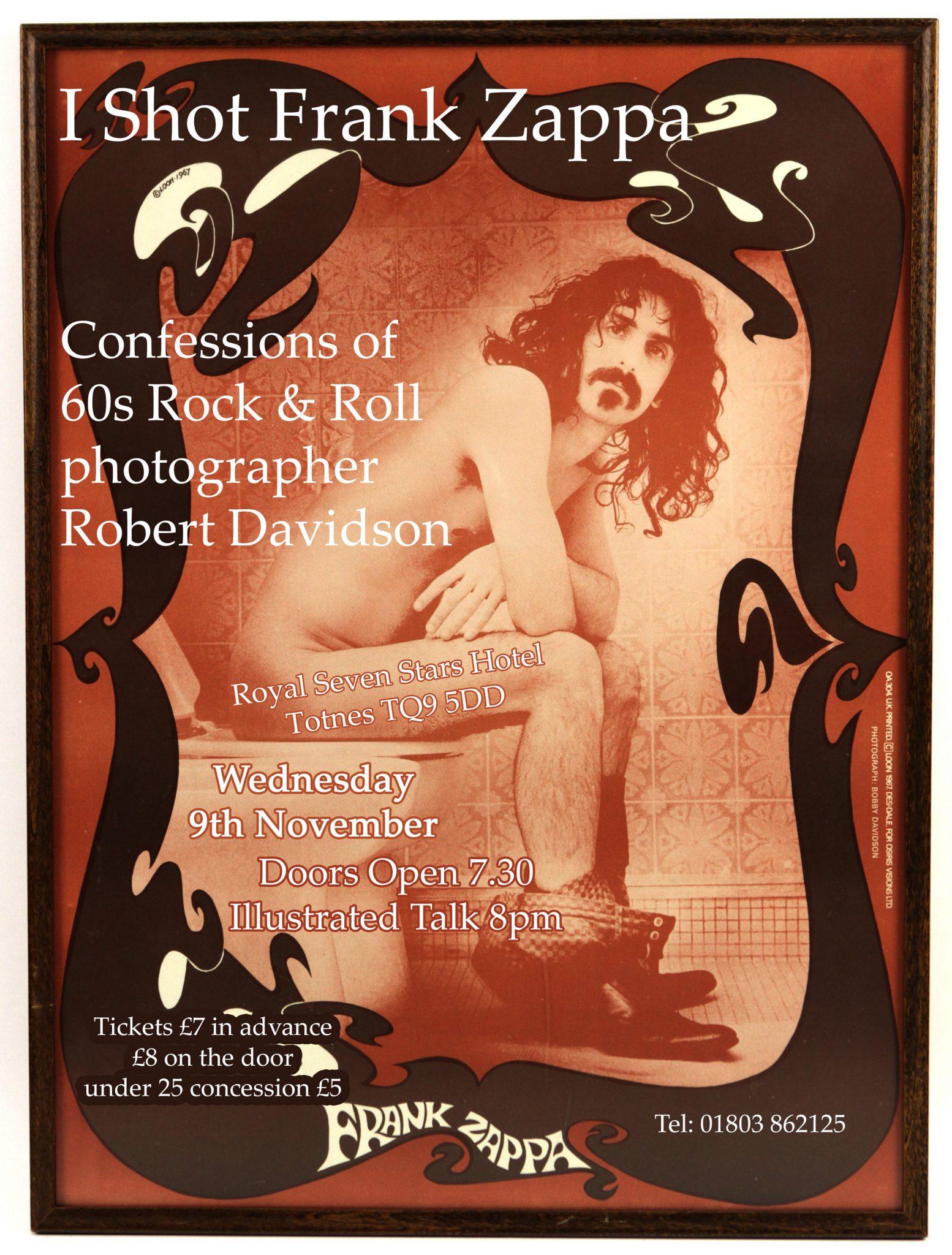 I Shot Frank Zappa: Illustrated Talk with photographer
