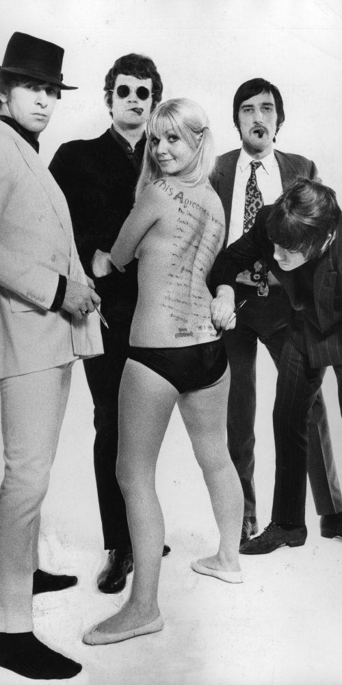 The Move and model Liz Wilson - Robert Davidson Photography 1966