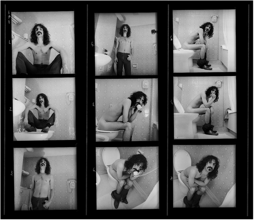 Frank Zappa Contact Sheet 1967 © Robert Davidson Photography
