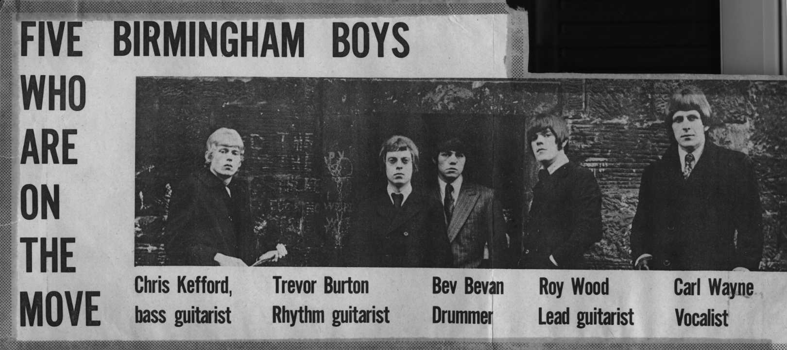 The Move 1966 newspaper clipping