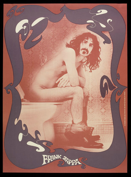 Frank Zappa Toilet Poster © Robert Davidson Photography
